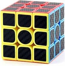 AWSW 3x3x3 Zauberwürfel Kohlefaser-Aufkleber