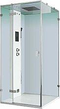 AWT Dampfdusche LD106F15 weiß