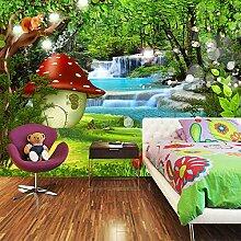 Awttmua 3D Fototapete Für Kinderzimmer Cartoon
