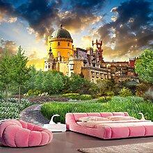 Awttmua 3D Tapete Für Wände Schloss Garten