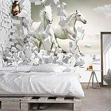 Awttmua Fototapete Für Wände 3D White Horse