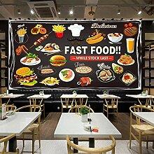 Awttmua Fototapete Für Wände Roll 3D Fast Food