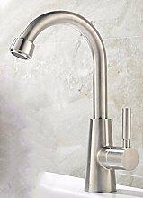 AWXJX Edelstahl Erkältung einfachen Stil Waschbecken Wasserhahn