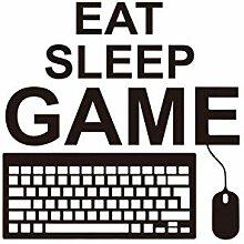 AWYUAN Essen Sie Schlaf Spiel Wandaufkleber