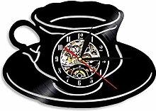 AXEF Kaffeetasse handgefertigt LED Vinyl Uhr