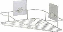 axentia Bad-Stufenregal Nizza aus Edelstahl in Silber, Badausstattung, Badaccessoire mit zwei Stickern zur Befestigung, Tragkraft ca. 5 kg