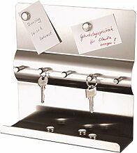 axentia Schlüsselboard in Silber, Memoboard aus