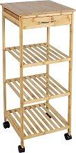 axentia Standregal Küchenschrank, Bambus, mit