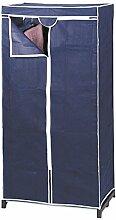 axentia Stoffschrank in Blau, Stahlrohrgestell mit