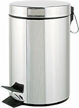 axentia Treteimer in Silber, 12 Liter