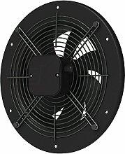 Axial Ventilator Ø 400 mm schwarz rund Abluft Zuluft Rohrlüfter Radial Rohr Lüfter Absauglüfter Industrielüfter Absaugung