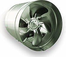 Axialer Rohrventilator Ø 160 mm 185m³/h Rohrlüfter Lüfter Hochdruck Ventilator Abluft Gebläse Metall Radialventilator