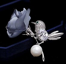 Axiba Broschen Männer und Frauen Perle Vogel