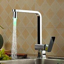 axiba Chrome Finish Küchenarmatur mit Farbwechsel