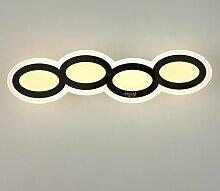 Axiba- Creative-wasserdichte LED-Acryl-Spiegel Frontlampen Moderne Minimalistische Badezimmer Spiegelschrank Badezimmer Wandleuchte Nachttischlampe,A