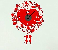 Axiba DIY Paar Wand Aufkleber Uhr 47 * 64cm