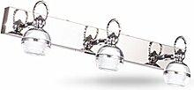 Axiba- Edelstahl Spiegel LED-Scheinwerferlampe Badezimmerspiegelschrank Spiegelleuchten WC-Lampe Leuchte