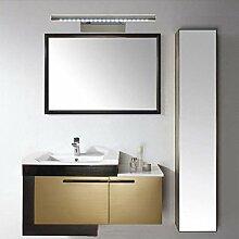 Axiba- Edelstahl Spiegel Scheinwerfer High-Brightness-LED-Lampe Bad Toilette Make-up Spiegelschrank Spiegelleuchte Lampe,White-7W55CM