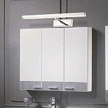 Axiba- Einfache Und Elegante LED-Spiegelleuchte Schrank Teleskop Edelstahl Spiegel Toilette Lampe Licht Bad,WarmWhite-9W53CM