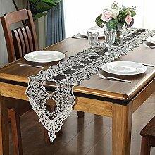 Axiba Tischläufer European Black Lace Tabelle