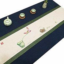 Axiba Tischläufer Handbemalte Leinen, Baumwolle,