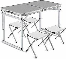 AXJa Einstellbare Aluminium Camping Tisch