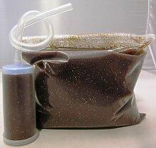 Axor Granulat dunkel, Wasserfiltergranulat, Wasserfilter Granulat Harz Wasserenthärter Entkalker Enthärter zum Selbstbefüllen inkl. Filter 500 g