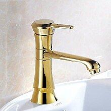AXWT Gold Kalte Wärme Becken Wasserhahn