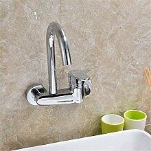AXWT Küche Bad Spüle voll von warmen und kalten