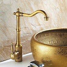 AXWT Küchenarmatur, Retro Waschbecken Wasserhahn