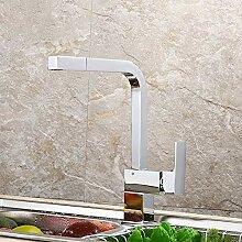 AXWT Küchenarmatur Waschbecken Kupfer Kälte