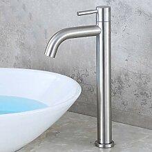 AXWT Moderne Einhand Edelstahl Kaltwasserhahn Bad