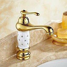 AXWT Waschbecken Lokalen Gold Einlochmontage