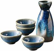 AYHa 5 Stück japanischer Sake Cup Set Porzellan