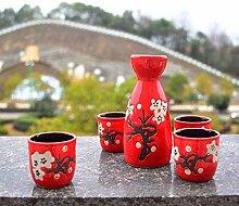 AYHa Japanese Sake Cup Set 5 Stück Porzellan