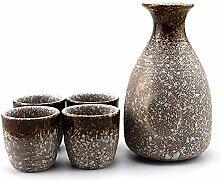 AYHa Japanese Sake Cup Set handgemalter Entwurf