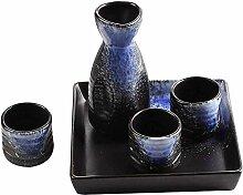 AYHa Sake Set Japaner mit Behälter 6 Stück Sake