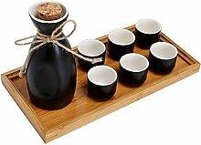 AYHa Sake Set Japaner mit Tray 8 Stück Sake Cup