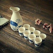 AYHa Sake Set japanischer Sake Cup Set