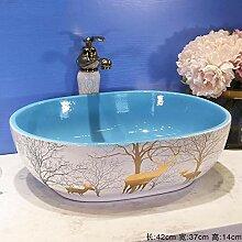 Ayhuir Badezimmer Garderobe Keramik Waschbecken