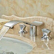 Ayhuir Doppelgriff Luxus Waschbecken Wasserhahn