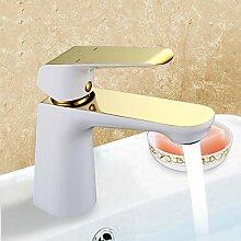 Ayhuir Gold Bad Becken Weiß Wasserhahn