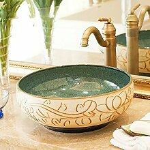 Ayhuir Keramik Aufsatzwaschbecken Garderobe
