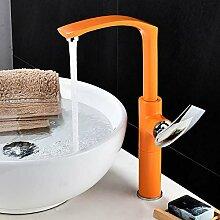 Ayhuir Neuheiten Orange Bad Wasserhahn Bad Becken