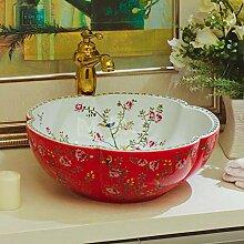 Ayhuir Rot und weiß jingdezhen Bad Keramik