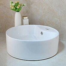 Ayhuir Waschbecken aus weißer Keramik Waschbecken
