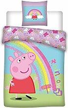 AYMAX S.P.R.L Peppa Pig Kinder-Bettwäsche -