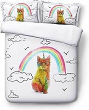 AYMAYO Kids - Kinder-Bettwäsche-Set Cat Katze