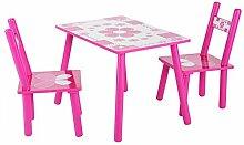 AYNEFY Kindersitzgruppe Holz Kindertisch mit 2