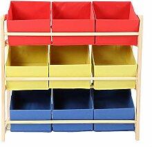 AYNEFY Kinderzimmerregal,Spielzeugregal mit 9